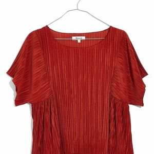 Texture and Thread Micropleat Top - worn once
